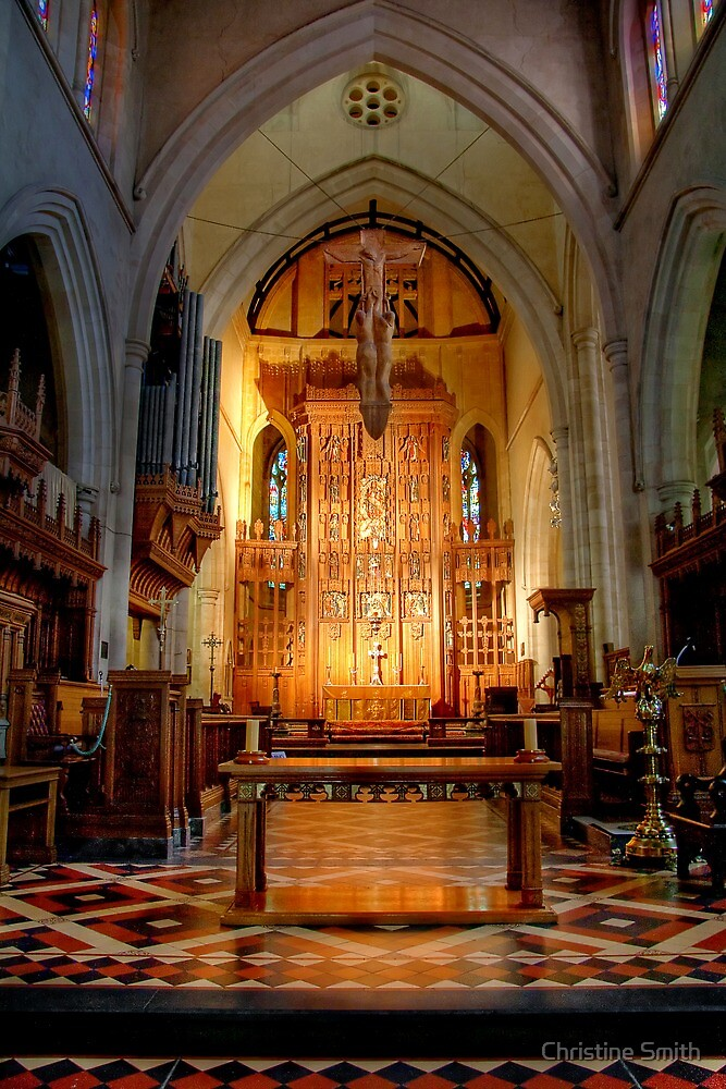 St Peter's Cathedral - The Altar by Christine Smith