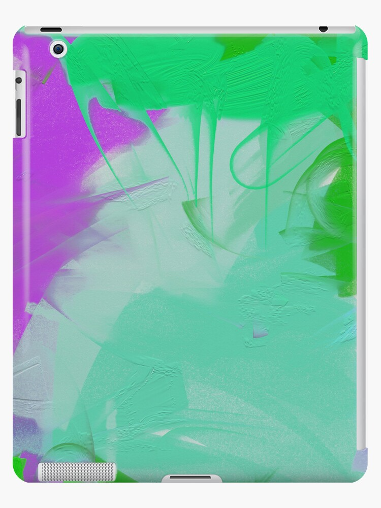 Abstract Art on Canvas iPad Case by CheriesArt
