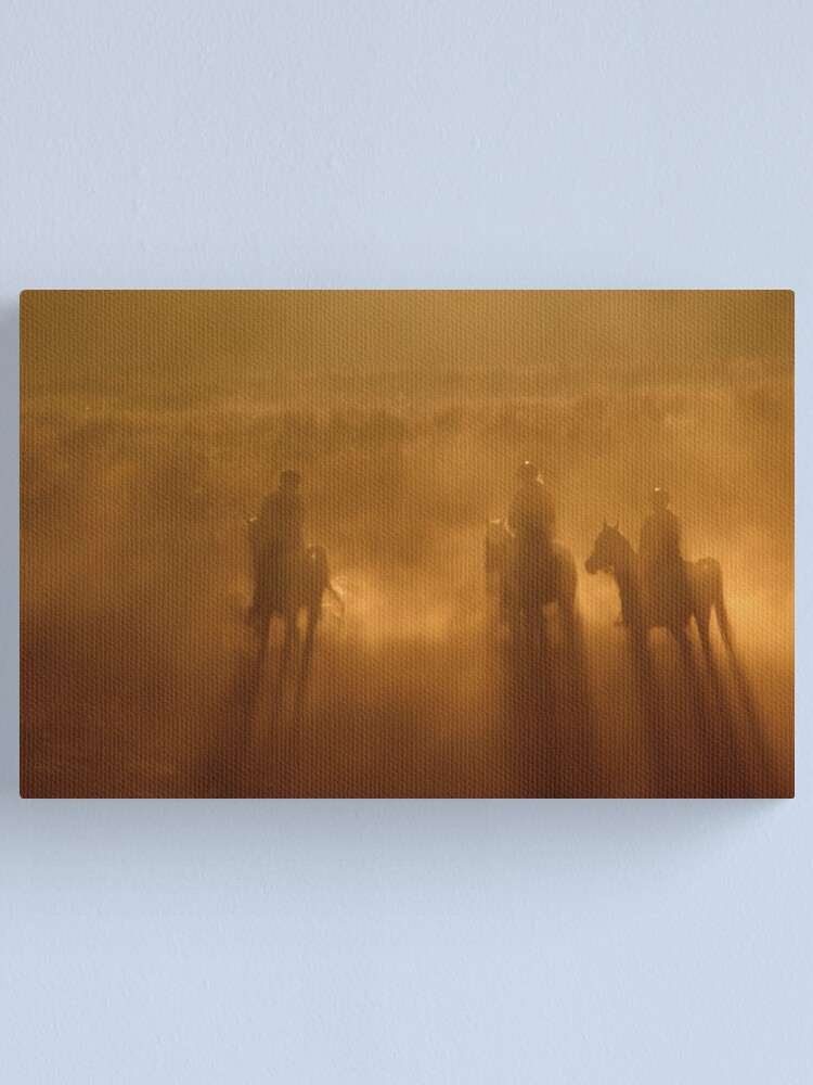Alternate view of Riders in the Dawn Canvas Print