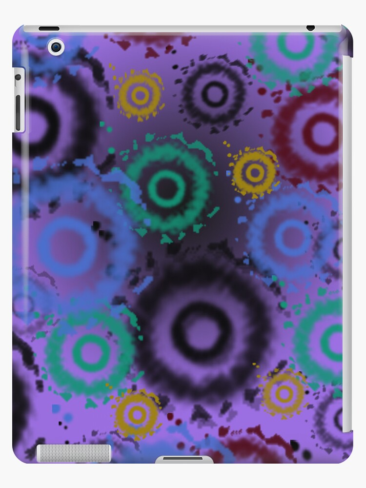 Tie Dyed Pattern iPad Case, Purples by CheriesArt