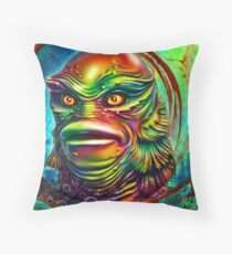 Creature from the black lagoon. Throw Pillow