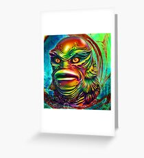 Creature from the black lagoon. Greeting Card