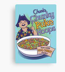Chunk's Chunky Puke Hoops Leinwanddruck