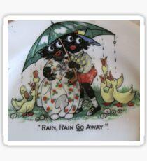 Gollies saying Rain Rain Go Away Sticker