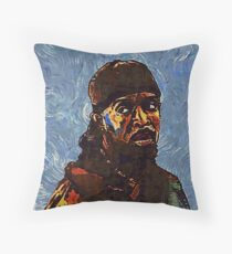 Omar Little by VanGogh - www.art-customized.com Throw Pillow