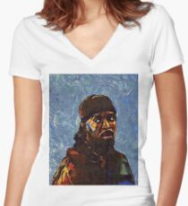 Omar Little by VanGogh - www.art-customized.com Women's Fitted V-Neck T-Shirt