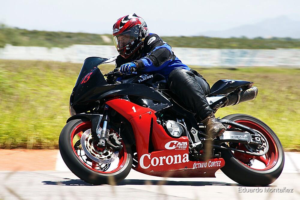 Octavio riding his superbike by Eduardo Montañez