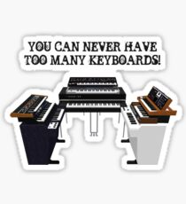 Too Many Keyboards! Sticker