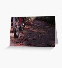 Bike Paths Greeting Card