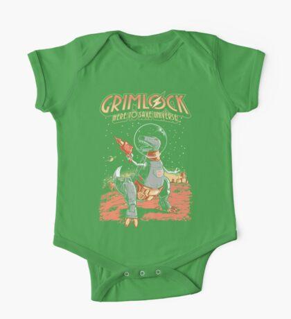 Space Pulp Robot Dinosaur Hero Kids Clothes