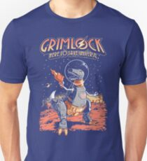 Space Pulp Robot Dinosaur Hero T-Shirt