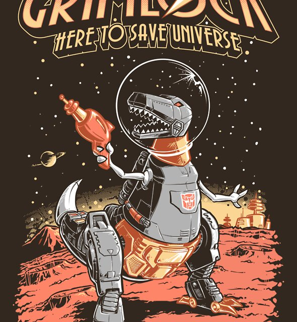 Space Pulp Robot Dinosaur Hero by Nathan Davis
