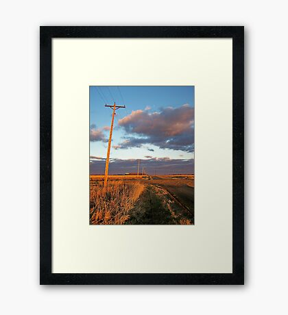 Lonesome Roads Framed Print