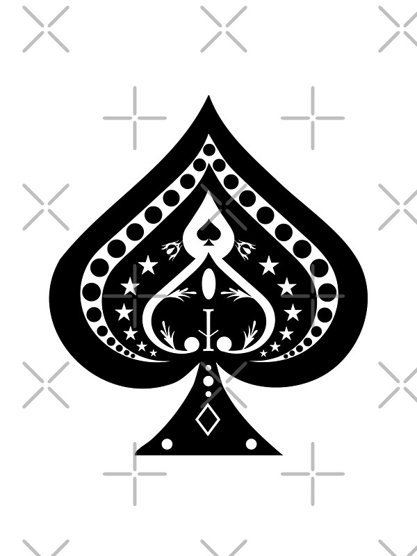 """""""Card Suits: Spades Symbol"""" Stickers By Bradyarnold"""