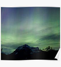 Aurora Borealis, Mt Robson, BC Poster