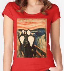 Camiseta entallada de cuello redondo Wu Scream - www.art-customized.com