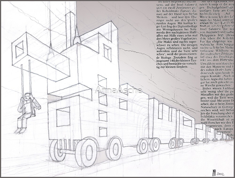 Seelenzug - sketch by AnnaAsche