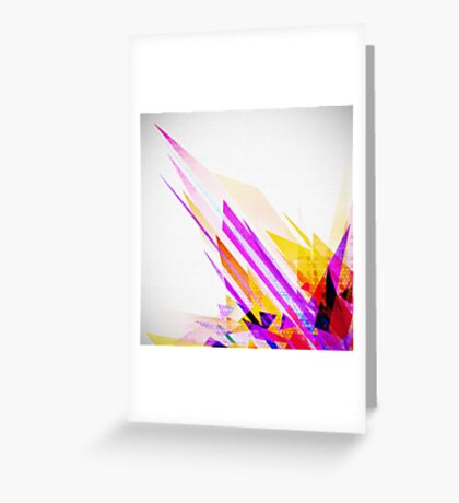crystal geometric Greeting Card
