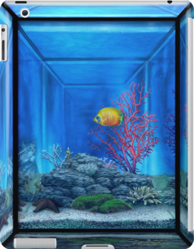 3d fish tank ipad cases skins by marvin hayes redbubble for Snap on fish tank
