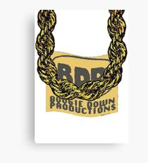 Old School Gold Rope Chain and classic logo 3 - www.art-customized.com Canvas Print