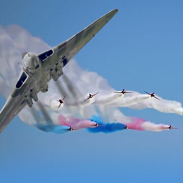 Vulcan And The Red Arrows by Arrowman