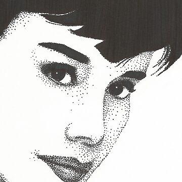 Audrey Hepburn by artoftheabyss