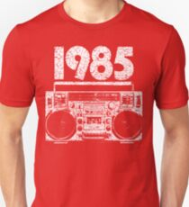 1985 Boombox Distressed Graphic Unisex T-Shirt