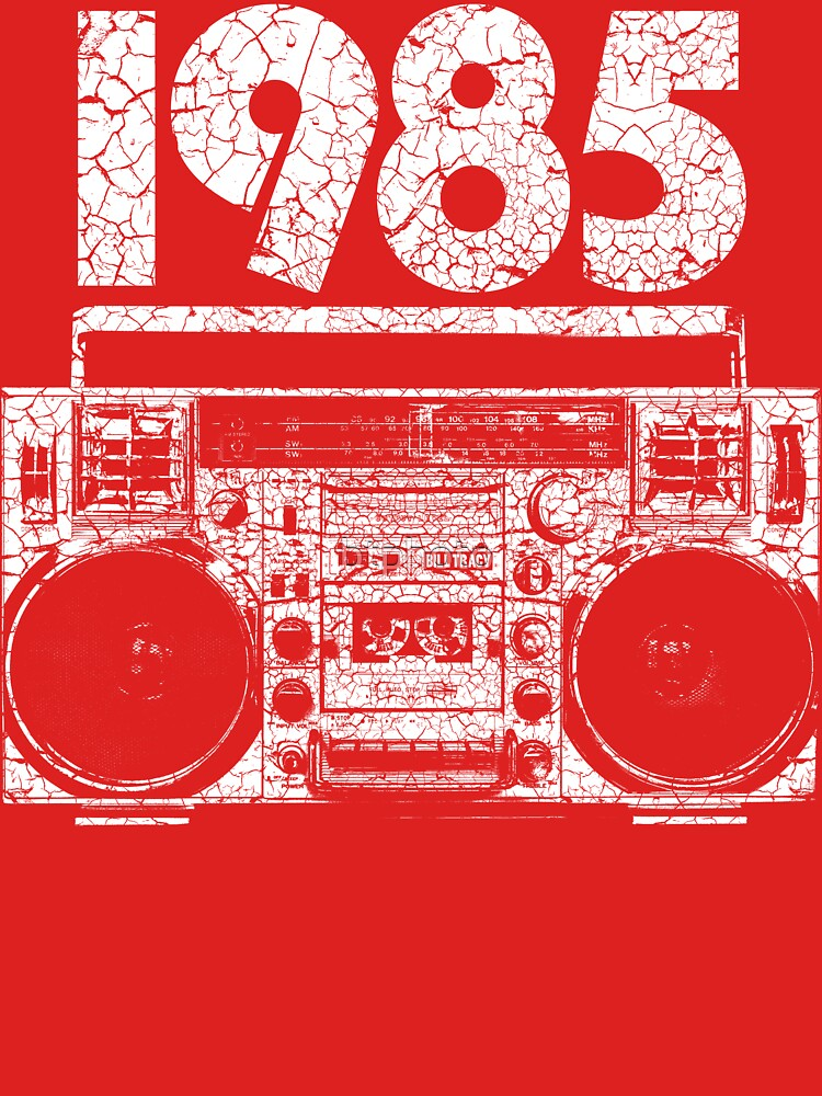 1985 Boombox Distressed Graphic by btphoto