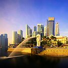 Merlion Sunrise - Iconic Singapore by Maxwell Campbell