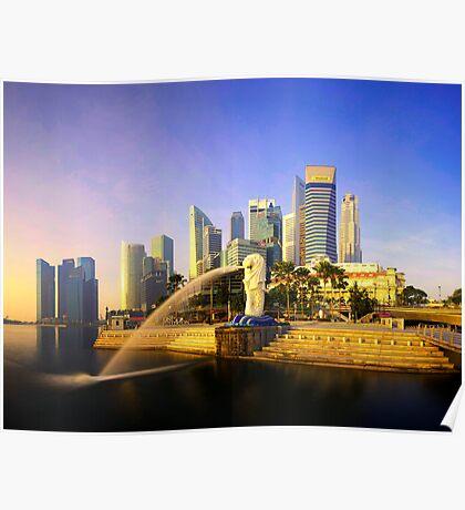 Merlion Sunrise - Iconic Singapore Poster
