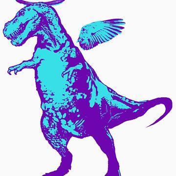 Angel Rex (purple and aqua) by sandpaperdaisy