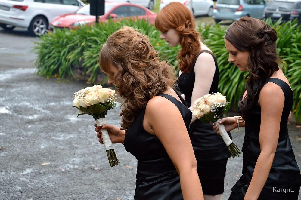 Three Bridesmaids Marching by KarynL