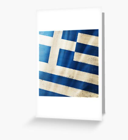 Greece flag  Greeting Card
