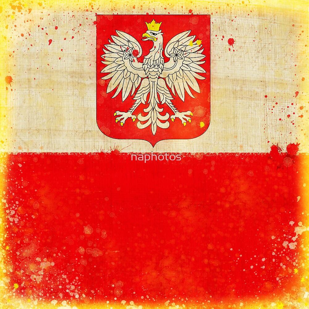 Poland flag by naphotos