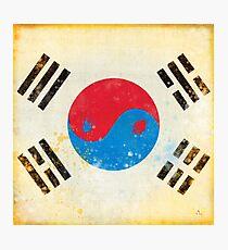 south Korea flag Photographic Print