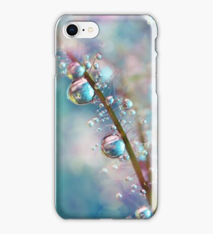 Rainbow Blue Smokey Drops iPhone Case/Skin