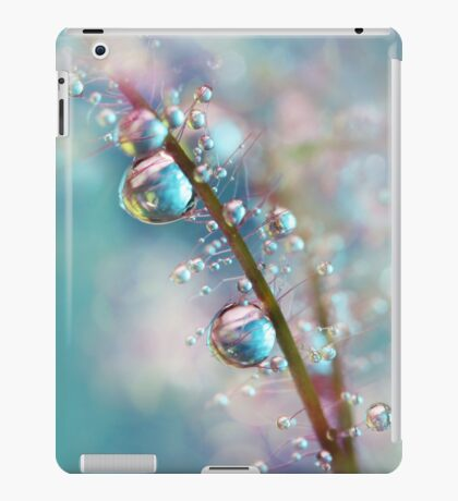 Rainbow Blue Smokey Drops iPad Case/Skin