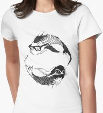 Hipster Koi Womens Fitted T-Shirt