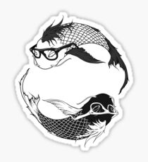 Hipster Koi Sticker