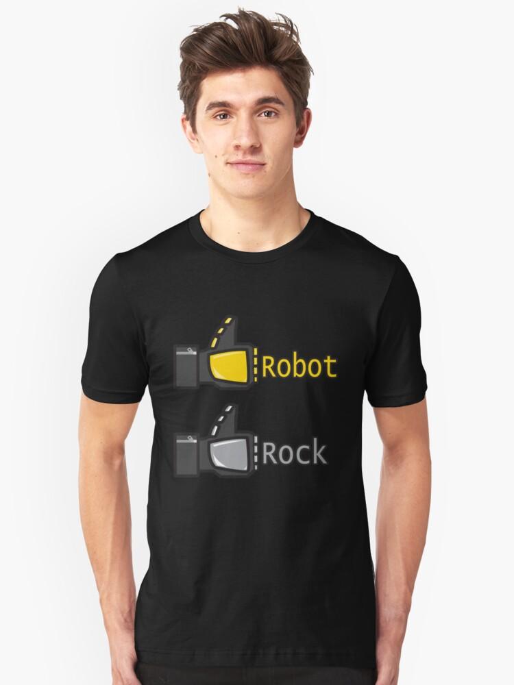 Social Robot Rock! Unisex T-Shirt Front