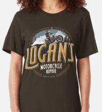 Logan's Motorcycle Repair Slim Fit T-Shirt