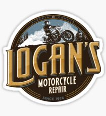 Logan's Motorcycle Repair Sticker