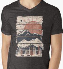 Winterverfolgungen ... T-Shirt mit V-Ausschnitt für Männer