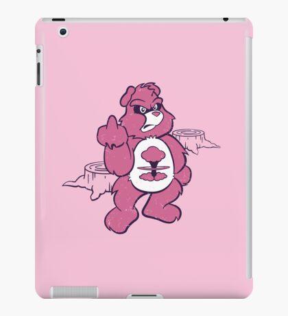 Don't Care Bear (pink) iPad Case/Skin