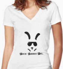 DRabbitP Women's Fitted V-Neck T-Shirt
