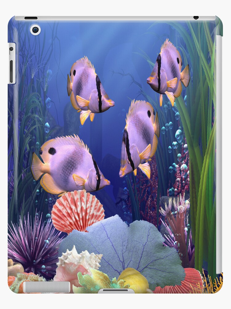 iPad Case-Aquatic by Pamela Phelps
