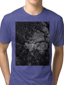 Fort Worth map Texas Tri-blend T-Shirt