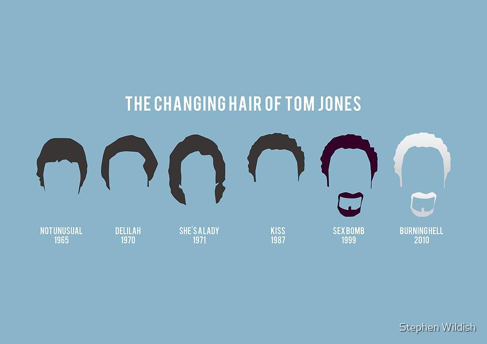 The changing hair of Tom Jones by Stephen Wildish