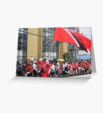 Carrying The Flag Greeting Card