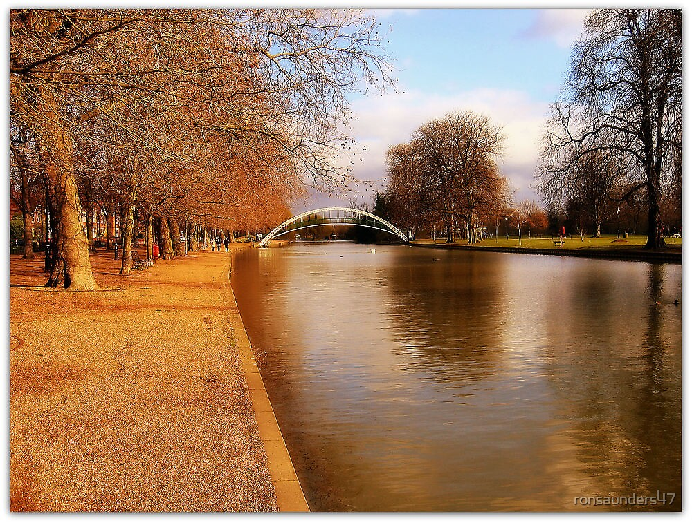 The Embankment and Suspension Bridge. Bedford UK. by ronsaunders47